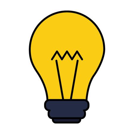light bulb on white background vector illustration