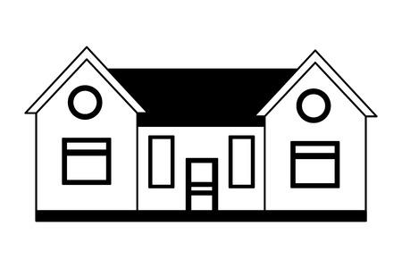 Extérieur de la maison de la maison sur fond blanc vector illustration vector illustration Vecteurs
