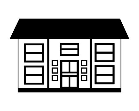 house home exterior on white background vector illustration vector illustration Banco de Imagens - 112734629