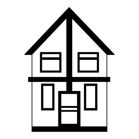 house home exterior on white background vector illustration vector illustration