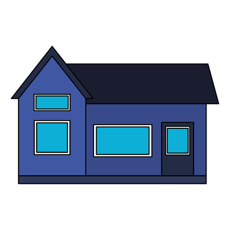 house home exterior on white background vector illustration 写真素材 - 112736036