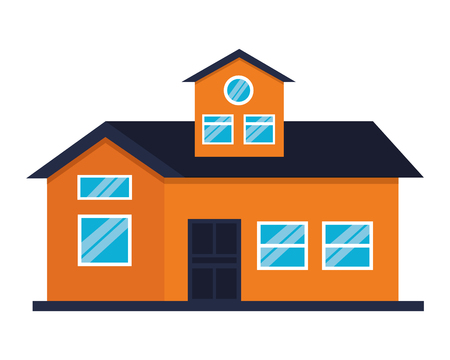 house home exterior on white background vector illustration Stock fotó - 112736043