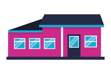 Extérieur de la maison de la maison sur fond blanc vector illustration