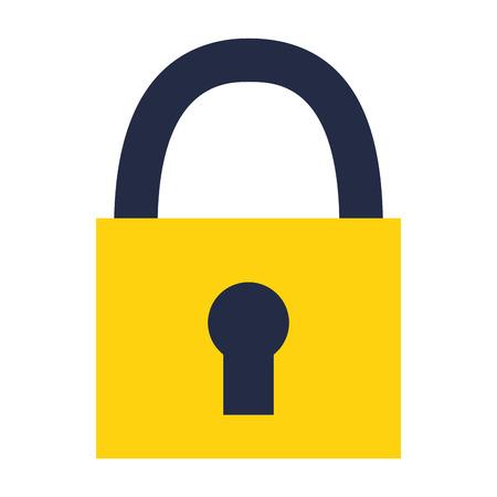 padlock security on white background vector illustration Illustration