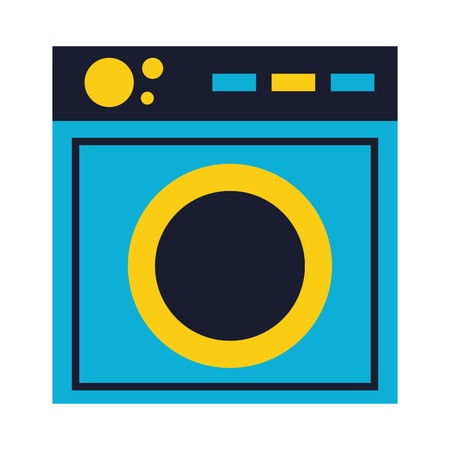 washing machine appliance on white background vector illustration