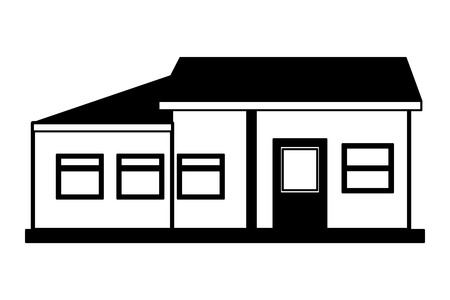 house home exterior on white background vector illustration Stock fotó - 112736784