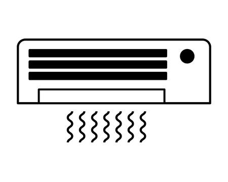 airconditioner op witte achtergrond vectorillustratie