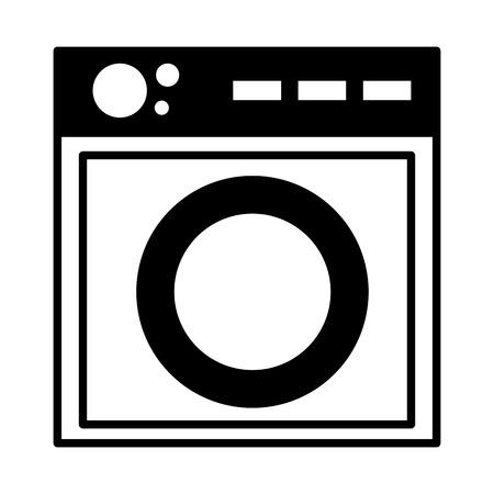 washing machine appliance on white background vector illustration