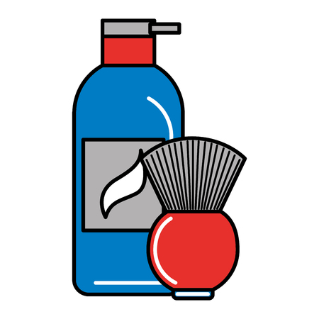 barber shop gel and brush vector illustration Banque d'images - 127317602