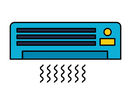 air conditioner on white background vector illustration