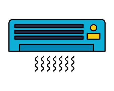 airconditioner op witte achtergrond vectorillustratie Vector Illustratie