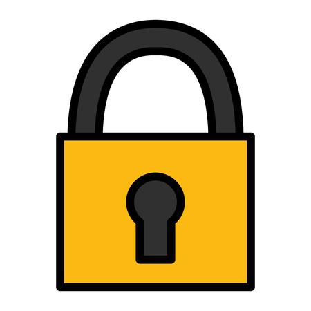 padlock security on white background vector illustration Illustration