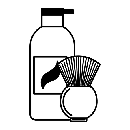 barber shop gel and brush vector illustration 일러스트