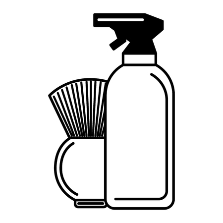 barber shop brush and spray vector illustration Stok Fotoğraf - 127317631