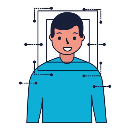 man face scan biometric digital technology vector illustration Standard-Bild - 127317752