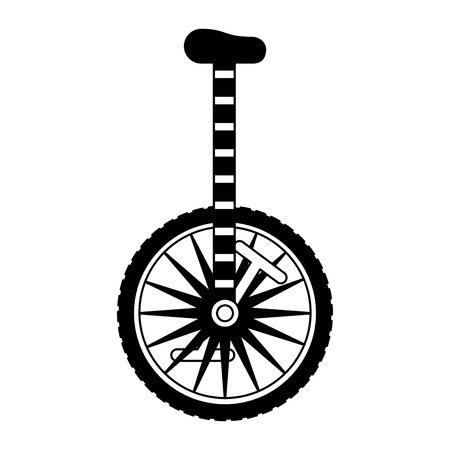 unicycle object on white background vector illustration