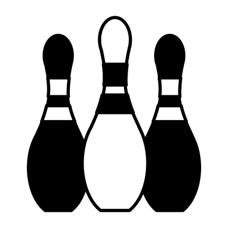 bowling pins on white background vector illustration  イラスト・ベクター素材