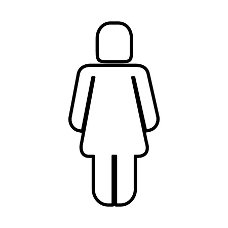 woman silhouette figure icon vector illustration design Illustration