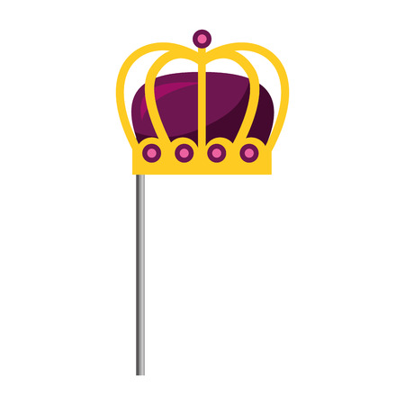monarchical crown in stick vector illustration design Ilustracja
