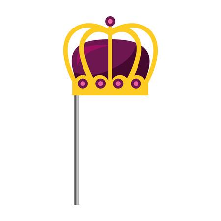 monarchical crown in stick vector illustration design Illustration
