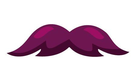 hipster mustache accessory icon vector illustration design Archivio Fotografico - 127273480