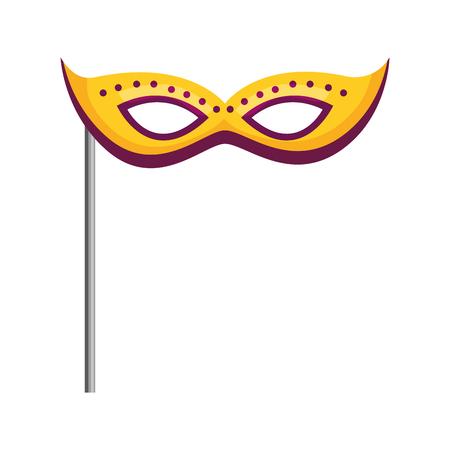 mask carnival celebration in stick vector illustration design Ilustrace