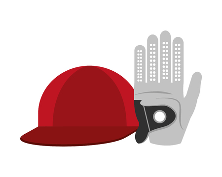 golf glove with cap isolated icon vector illustration design