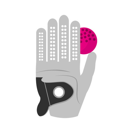 golf glove with ball isolated icon vector illustration design
