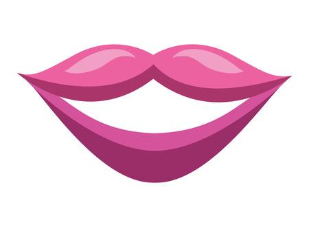 sensuality female lips icon vector illustration design