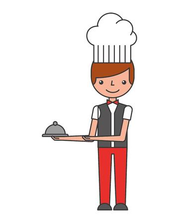 chef hotel isolated icon vector illustration design