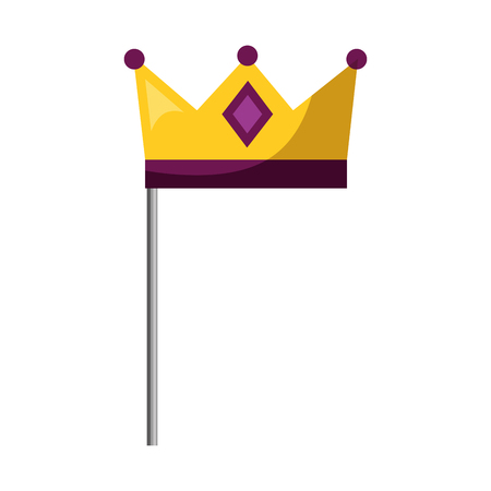 monarchical crown in stick vector illustration design Illusztráció