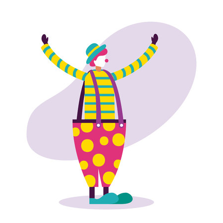 clown character circus fun fair vector illustration Ilustrace