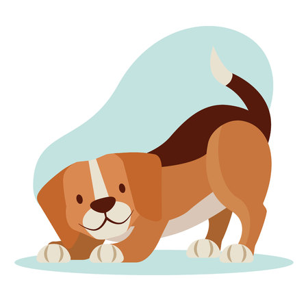 beagle dog pet cartoon animal vector illustration
