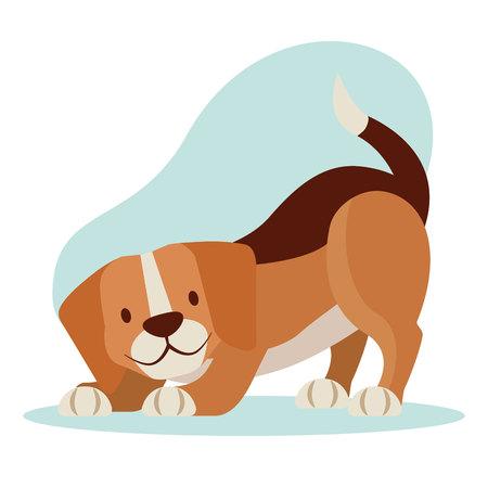 beagle dog pet cartoon animal vector illustration