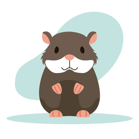 hamster rodent cartoon animal vector illustration design vector illustration Illustration