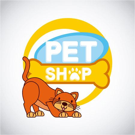 pet and veterinary cat shop animal vector illustration Ilustracja