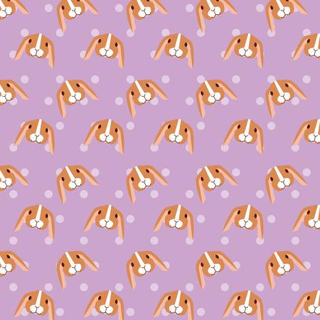 rabbits pet and veterinary pattern vector illustration