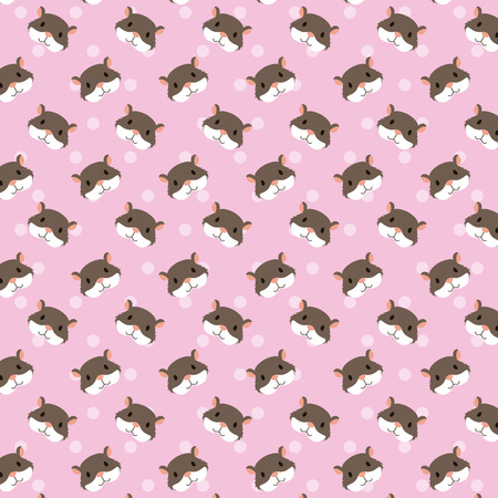 hamsters pet and veterinary pattern vector illustration Stock Vector - 127275509