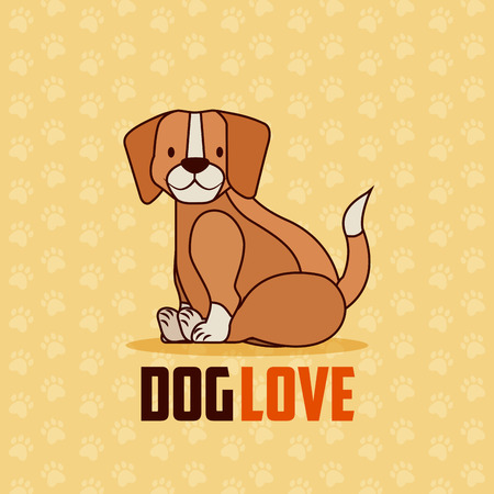 beagle dog pet and veterinary vector illustration