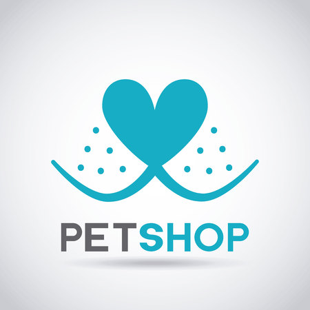 pet and veterinary care medical emblem vector illustration