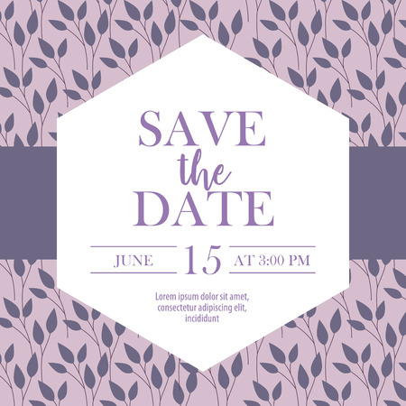 save the date ribbon card sign date celebrate vector illustration 스톡 콘텐츠 - 112790356