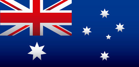 australia flag decoration celebration background vector illustration Ilustração