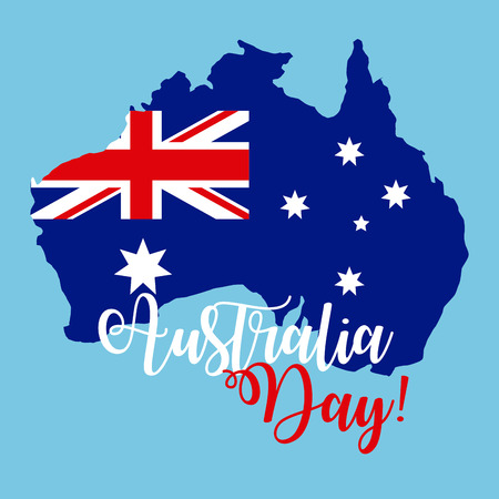 australia day flag celebration stars vector illustration  イラスト・ベクター素材