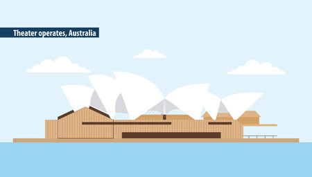 presentations sydney theater operates australia place vector illustration  イラスト・ベクター素材