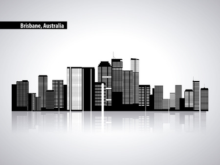australia place brisbane city tourist vector illustration