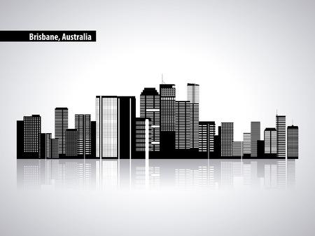 australia place brisbane city tourist vector illustration