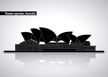 australia place theather operates presentations vector illustration