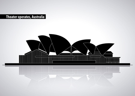 australia place theather operates presentations vector illustration Banco de Imagens - 127275824