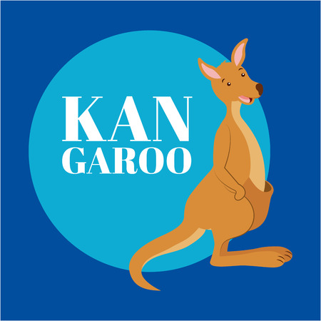 australia animal sticker cute kangaroo vector illustration