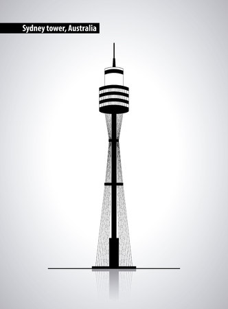 australia place sydney tower high vector illustration